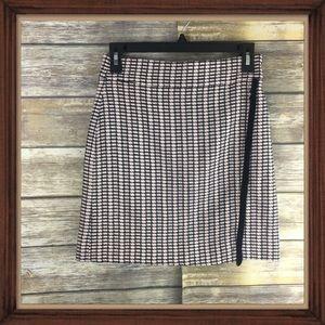 J.Crew Tweed Wrap Mini Skirt Light NWT Size 00